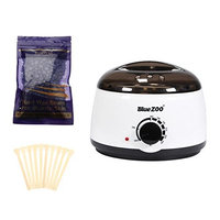 Homyl 500CC Hair Removal Hot Waxing Warmer Heater +100g Lavender Wax Beans Beads + 10pcs Applicator Disposable Spatula Sticks Set Kit