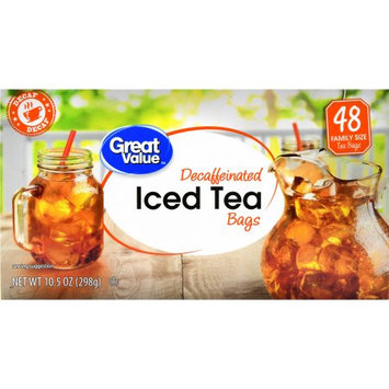 Wal-mart Stores, Inc. Great Value Gallon Sized Decaffeinated Iced Tea Bags, 48 ct, 10.5 oz