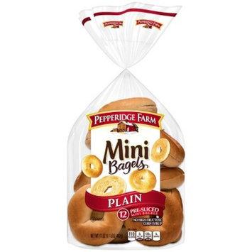 Pepperidge Farm® Mini Plain Bagels, 17oz Bag, 12pk
