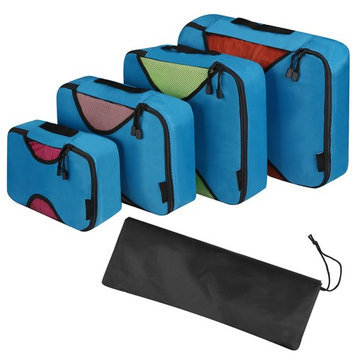 Travel Packing Bag Cubes Set of 4 Pieces Organizer Bag Case For Shoes Cloths Cosmetics BYE