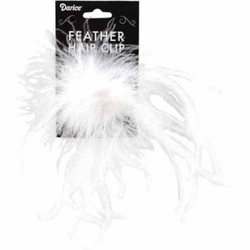 Ostrich Feather Hair Clip, 1/Pkg