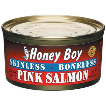 Honey Boy Pink Salmon Skinless and Boneless Pink Salmon, 6 Oz (Pack of 6)