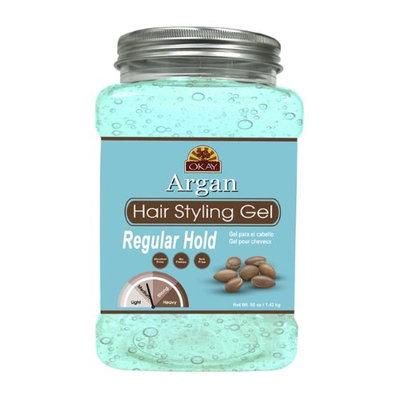 Okay OKAY-ARGANG50 50 oz Argan Hair Styling Gel Regular Hold