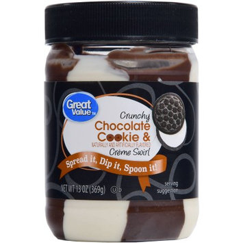 Great Value Crunchy Chocolate Cookie & Creme Swirl