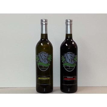 VSOP Organic Butter Infused Extra Virgin Olive Oil & Traditional 18yr Aged Dark Balsamic Vinegar of Modena (2 Bottle) Combo Pack