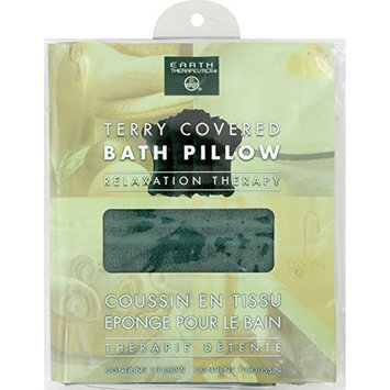 Earth Therapeutics: Terry Covered Bath Pillow, Dark Green (2 pack) by Earth Therapeutics