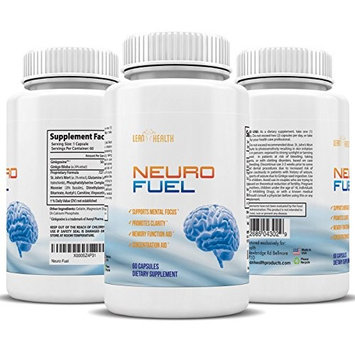 Lean Health Neuro Fuel - Ginkgo Biloba St. Johns Wort Bacopin - Focus, Concentrate, Reduce Stress, and MUCH MO