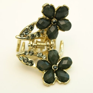 Flowers on Gold Hair Claw