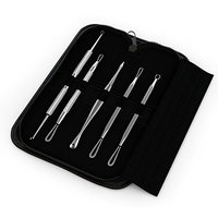 Blackhead & Blemish Remover Kit - Equinox Acne Treatment - 5 Professional Surgical Extractor Instruments - Easily Cure Pimples, Blackheads, Comedones, Acne, and Facial Impurities