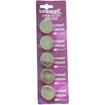 Loopacell Lithium 3V Batteries CR2450 5 Pack