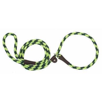 Mendota Products Mendota British Style Slip-Lead Dog Leash - Jade Diamond - 1/2 in x 4 ft