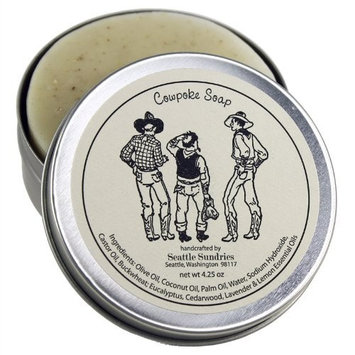 Cowpoke Soap-100% Natural Skin Care Bar. Scented with Essential Oils. One 4 oz Bar in a Handy Travel Gift Tin. Great For Western, Horse, Rodeo Lovers.