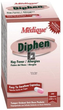 Medique - 18447 Diphen Allergy and Hay Fever Relief - 200 Per Box