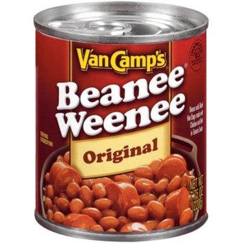 PACK OF 16 - Van Camp's Original W/Sliced Hot Dogs In Tomato Sauce Beanee Weenee 7.75 Oz Can