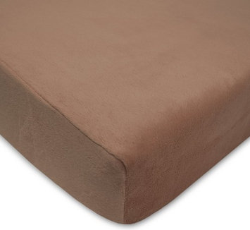 American Baby Company Heavenly Soft Chenille Crib Sheet - Chocolate - 2 Pack