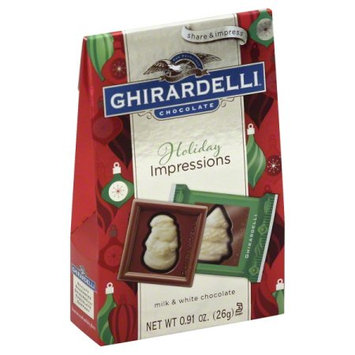 Ghirardelli Chocolate Co Odq Milk Chocolate White Chocolate Squares Bag 24.91 Ounce
