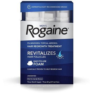 Rogaine Men's Easy-To-Use Foam 6.33 oz, 3 ea