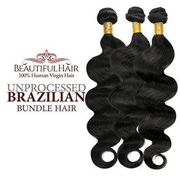Beautiful Hair 100% Virgin Remy Human Hair Unprocessed Brazilian Bundle Hair Weave Natural Body Wave 7A 3 Bundles, 4 Bundles, Natural Color (14