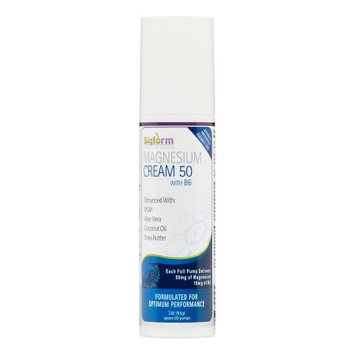 Sigform Magnesium Cream 50 with Vitamin B6, 3 Oz