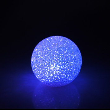 Firefly Imports LED Crystal Snow Ball Centerpiece, Multi-Color, 3-Inch
