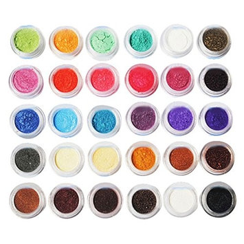 Maquiagem Glitter Shimmer Mineral Eyeshadow Makeup Full Size eye shadow Fashion 30 PCS 20 Colors