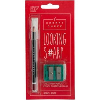 WMU 2276878 Looking Sharp Rebel Rose Lip & Eye Pencil & Sharpener Duo Case of 24