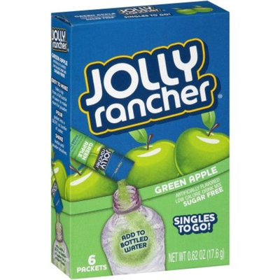 Jolly Rancher Drink Mix, Green Apple, .62 Oz, 6 Packets, 1 Count