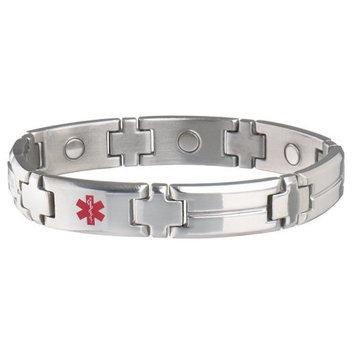 Sabona Of London Mens Magnetic Medical ID Bracelet - Diabetes Alert & Wallet Card