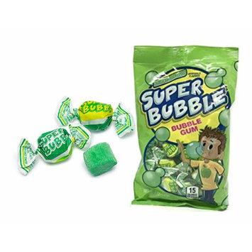 Super Bubble Bubble Gum Classic Sour Apple Flavor 5 Ounce Bag