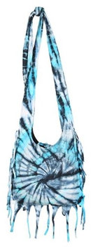 Crossbody Tie Dye Sling -Teal Earth Divas 1 Bag