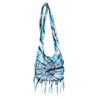 Crossbody Tie Dye Sling -Teal Earth Divas 1 Bag