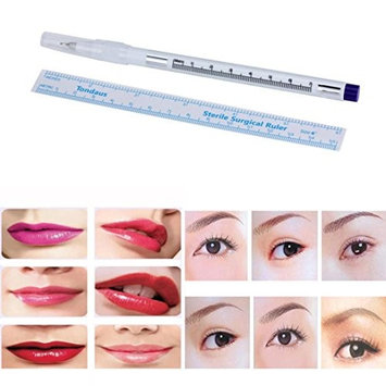 Eyebrow Microblading Pen, Kemilove Surgical Skin Marker Pen Scribe Tool for Tattoo Piercing Permanent Makeup