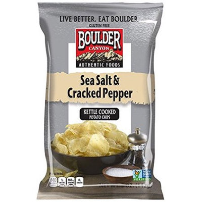 Boulder Canyon Natural Foods Potato Chips Slt & Crkd Pp 1.5 OZ (Pack of 36)