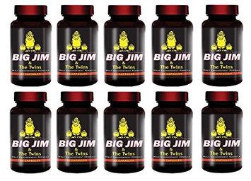 Maritzmayer Laboratories Big Jim & The Twins Male Enhancement All Natural Formula 60 Pills Per Bottle 10 Bottles