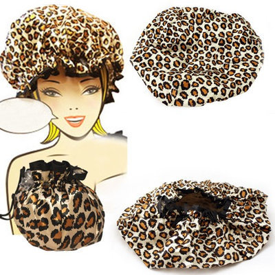 Atb Mademoiselle Shower Cap Bouffant Pouch Hat Bath Hair Waterproof Spa Bathing Gift