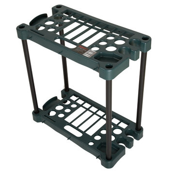 Compact Garden Tool Storage Rack - Fits Over 30 Tools by Stalwart