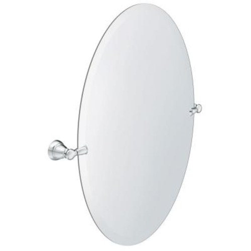 MOEN Banbury 23 in. x 26 in. Frameless Pivoting Single Wall Mirror in Chrome
