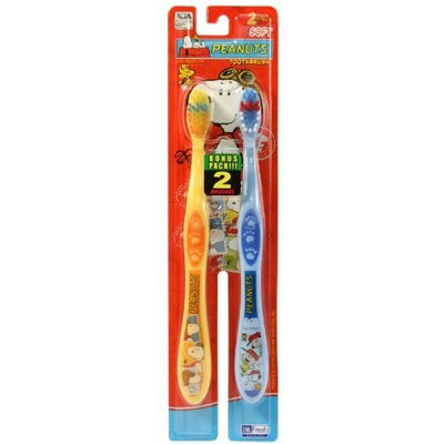 Firefly Toothbrush Peanuts 2 Count Soft Bristles [1]