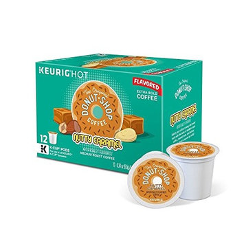 The Original Donut Shop Nutty Caramel Medium Roast Coffee K-Cup Pods, (12-Count Box) (Pack of 3 Retail Boxes)