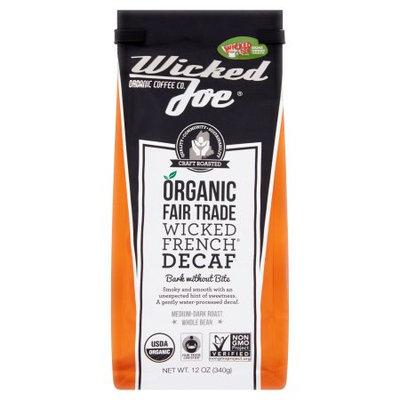 Wicked Joe Coffee, Coffee Bean Decaf D Roast, 12 Oz (Pack Of 6)
