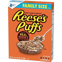Reese's Peanut Butter Puffs, Cereal, Family Size, 20.7 Oz