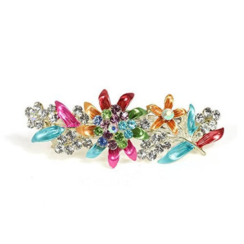 CAETLE Women Girl Beauty Flower Vintage Crystal Hair Clip Head Wear Holder