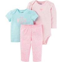 born Baby Girl Tshirt, Bodysuit, and Pant Set