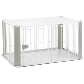 Iris 23.5 Deluxe Play Pet Pen, Gray
