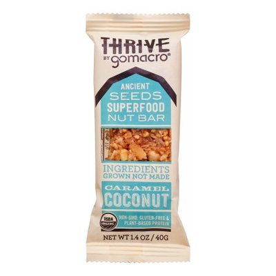 Thrive by GoMacro - Caramel Coconut - Ancient Seeds Superfood Nut Bar - 1.4oz - Pack of 12