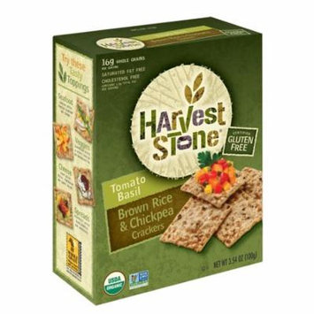 HARVEST STONE CRACKERS TOMATO BASIL, 3.54 OZ (Pack of 6)