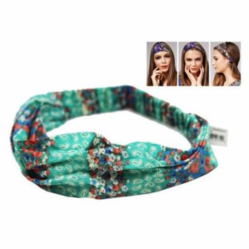 Turquoise Wild Girl Headband With Pink and Blue Floral Pattern
