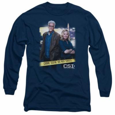 CSI/DO NOT CROSS-L/S ADULT 18/1-NAVY-MD