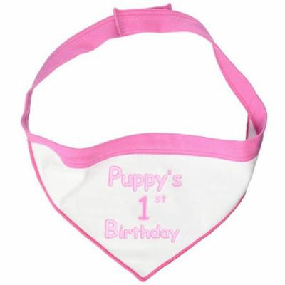 Scarf, Puppy's First Birthday, Pink, Small, 8.14