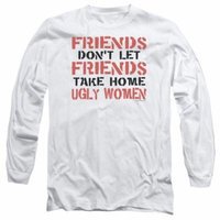 FRIENDS...UGLY WOMEN-L/S ADULT 18/1-ATHLETIC HEATHER-XL